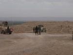 Checkpoint in desert